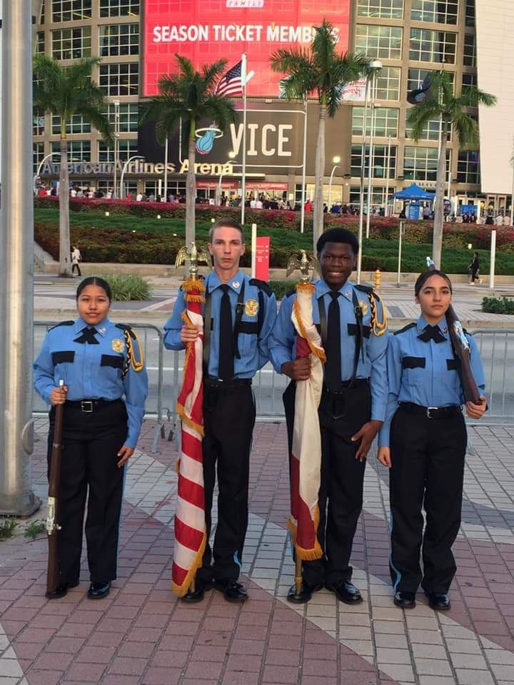Color Guard @Miami Heat Game