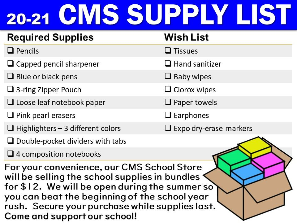 CMS Supplies and Bundle announcement