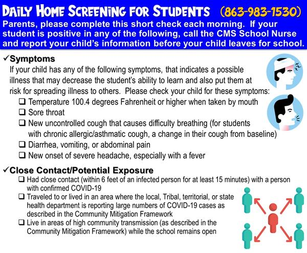 Daily Home Screening for Students