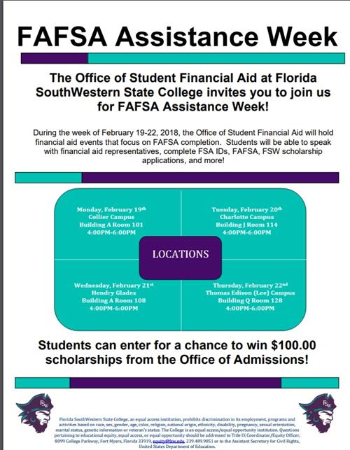 FAFSA ASSISTANCE WEEK