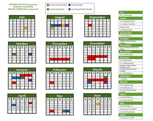 District Approved Calendar 2019-2020