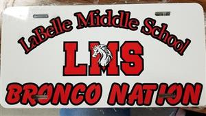 LMS Bronco Nation License Plate