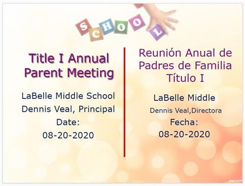 LMS Title 1 Annual Parent Meeting2020 2021