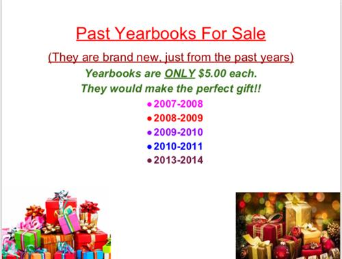 Past Yearbooks for Sale